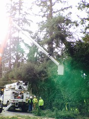 """Crews work in """"beastmode"""" to assess damage and restore as many customers as quickly as possible. (Puget Sound Energy) Tags: usa power unitedstates wind wash damage restoration kenmore pse crews kingcounty outage pugetsoundenergy beastmode"""