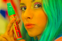 Ink Medicin (Dew A.) Tags: blue green hair paint inspired vivid molotow ouka leele