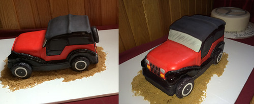 """A jeep grooms cake • <a style=""""font-size:0.8em;"""" href=""""http://www.flickr.com/photos/50891271@N03/15727152133/"""" target=""""_blank"""">View on Flickr</a>"""