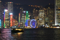 DSC07124 (ha3633) Tags: christmas ferry night december sony decoration scene grlitz 100mm hong kong sha f28 tsui 1959 2014 1881 meyeroptik trioplan a7r