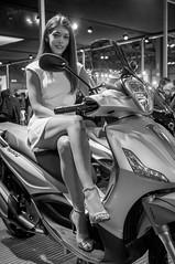 EICMA 2014 (simo mura) Tags: girls bw woman hot sexy blakandwhite girl monochrome bike donna model nikon legs milano stage models fair babe exhibition motorbike babes moto motorcycle heels donne hostess nikkor ragazza motorcycling fiera ciclo rho 2014 ragazze d90 1685 eicma motociclette motociclo bwlover