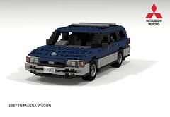 Mitsubishi Magna TN Wagon (lego911) Tags: auto park car wagon model tn lego oz render 1987 australia 80s adelaide aussie 1980s 85 challenge mitsubishi cad magna gallant lugnuts povray moc ldd miniland tonsley lego911 liketotally80s
