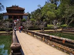 at Emperor Minh Mang's tomb (SM Tham) Tags: park bridge pond unescoworldheritagesite vietnam pavilion hue tombs mausoleums minhmang