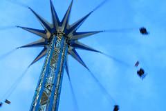 Blue Swing at Winter Wonderland (Puckpics) Tags: blue movement ride fairground move hydepark winterwonderland 2014 london2014