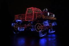Keep on Trucking 12082014 (Orange Barn) Tags: night lights christmaslights colored festivaloflights floats monstertruck eastpeoriaillinois eastpeoriafestivaloflights