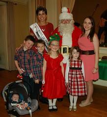 The Regan Cousins with Maria Walsh and Santa