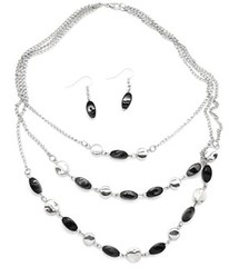 5th Avenue Black Necklace P2110A-1