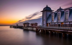 Penarth Pier at sunrise (technodean2000) Tags: uk wales sunrise pier long exposure south cardiff pavilion penarth