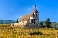 20141028-Canon EOS 6D-5319 (Bartek Rozanski) Tags: autumn france church vineyard village wine route alsace fortified hunawihr lesplusbeauxvillagesdefrance