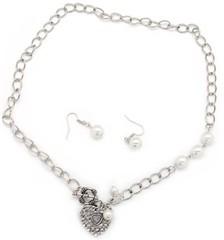 5th Avenue White Necklace P2610-1