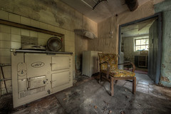 Weary feet, rested souls (Sshhhh...) Tags: abandoned kitchen chair decay explore rest supper derelict decayed aga weary sshhh sshhhh