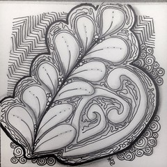 "#zentangle 2015-023, ""One Zentangle A Day"" day 6, mooka, amaze and flux with a sprinkle of static and printemps. I hated this one at so many points. I don't hate it now that it is shaded, but I don't love it either. (kurki15) Tags: square squareformat zia zentangle ozad zendoodle iphoneography instagramapp uploaded:by=instagram zentangleinspiredart 2015zentangleaday 2015zenjan"
