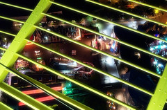 SkyCage (InertiaCreeps) Tags: seattle urban green lights neon spaceneedle kodakdc3400