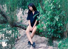 Thinking of tomorrow (Diablo Nguyen Photography ( Chnh Nguyn )) Tags: girls people 50mm deep teenagers greenery potraits peopleofvietnam