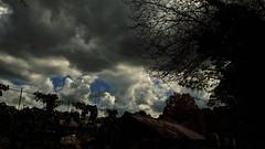 Menacing Sky (bimbler2009) Tags: sky silhouette clouds tress natureoutdoors fujifilms9900w
