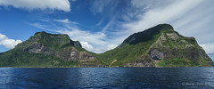 Mt Lidgbird & Mt Gower (NettyA) Tags: ocean sea panorama water rock clouds australia nsw geology day7 volcanic unescoworldheritage basalt lordhoweisland 2016 lhi mtgower mtlidgbird janetteasche lordhoweforclimate