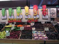 Central Market peppers (pr0digie) Tags: hot scale austin store texas faces market central illustrations supermarket peppers spicy grocery scoville