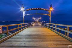 White Rock Pier (jennchanphotography) Tags: nightphotography sunset night lights pier landmark whiterock bluehour iconic nightscapes explorebc jennchanphotography