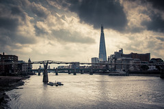 The Shard / L'charde (Gilderic Photography) Tags: england london tower thames clouds canon river londres shard 500d gilderic
