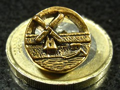 wonder why i like this one so much?? ~grin~ (muffett68 ) Tags: macro windmill coin euro button brass hss macromonday smallerthanacoin
