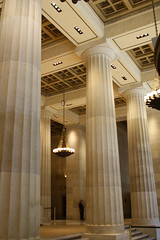 Lobby former AT&T Company Building (ktmqi) Tags: newyorkcity classic downtown broadway lobby column marble wallstreet att doric coffer