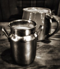 Milk Can and Teapot (James Rye) Tags: sepia james milk tea can rye pot teapot milkcan jamesrye iphone6