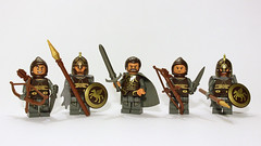 Rohan Royalty (11inthewoods) Tags: lego knight lordoftherings minifig rohan minifigures rohirrim brickforge brickwarriors