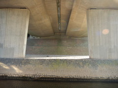 Under the A55, 2016 Jun 05 -- photo 1 (Dunnock_D) Tags: uk bridge england river unitedkingdom britain under underneath dee riverbank roadbridge a55 northwalesexpressway