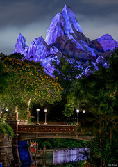 Home of the Yeti (mwjw) Tags: longexposure orlando nightshot florida disney disneyworld everest animalkingdom markwalter nikond800 mwjw tamron150600mm
