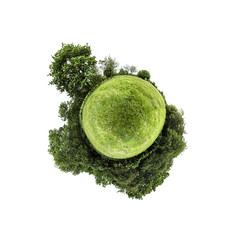 A green world (Keartona) Tags: world planet littleplanet round ball shape sphere field trees green summer england countryside meadow