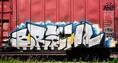 Brawl (rabidscottsman) Tags: railroad art minnesota graffiti brawl nikon weekend tag sunday rr squareformat vandalism spraypaint tamron mn 18270 northfieldminnesota paintedsteel d7100 rollingart scotthendersonphotography tamron18270 nikond7100