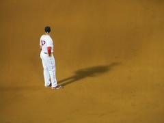 the wait (saudades1000) Tags: redsox baseball player baseballplayer boston shadow