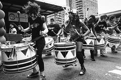 Pride Drummers (Pine Ear) Tags: street leica nyc gay film festival brooklyn analog candid voigtlander 28mm parkslope pride lgbt hp5 gothamist f2 ilford m6 ultron