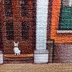 Mosaic dog (Dilys Treacle Treasures) Tags: dog streetart art shopping underpass subway mosaic sunday shoppingcentre publicart newtown berkshire towncentre bracknell charlessquare pedestrianwalkway