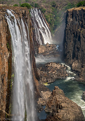Rocks and Water, Victoria Falls, Zambia (Peraion) Tags: africa water rocks zimbabwe victoriafalls zambia zambezi