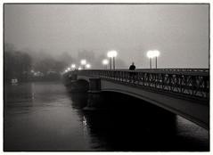 Solitude (stejo) Tags: bridge fog walking stockholm walker streetphoto chilly lonely bro skeppsholmen dis höst dimma fuktig analoge kallt analogt gatufoto vandrare ilobsterit