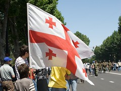 Georgian_flag_during_the_independance_day_of_Georgia_Tbilisi-e1349249993274 (kkote) Tags: