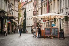 244_DSC7486 (mark.breen) Tags: street umbrella menu table restaurant chair europe capitol slovenia ljubljana