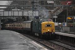 55022 Springburn, near Glasgow (Paul Emma) Tags: uk railroad train scotland glasgow railway locomotive springburn deltic diesellocomotive dieseltrain class55 55022 318256 5n11