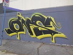 183 (en-ri) Tags: muro wall writing torino graffiti giallo nero oafs
