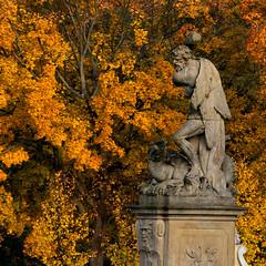 Bialystok - in the palace garden (linab09) Tags: park fall poland palace historic gardensculpture bialystok branicki