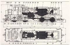 BR Diesellocomotive N DD953 - technical drawing. (Franky De Witte - Ferroequinologist) Tags: de eisenbahn railway estrada chemin fer spoorwegen ferrocarril ferro ferrovia