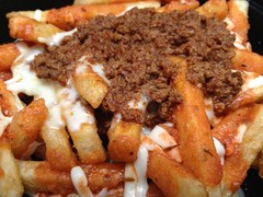 Chili Cheese Fries (mhaithaca) Tags: food cheese chili fries foodtruck louieslunch