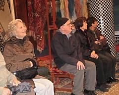 Gilbert in Carpet house, Fez, Morocco (ali eminov) Tags: fez fes morocco carpethouse carpets friends gilbert medinainfez maroc