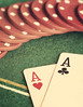 Poker face (cazadordesueños) Tags: stilllife gambling risk poker win cartas juego aces pokerchips aceofclubs riesgo corazones ases aceofhearts treboles ganar partida fichas pokercards