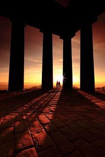 Penshaw sunset