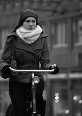 AMS Winter (Amsterdamize) Tags: city winter people blackandwhite netherlands amsterdam bike bicycle cycling nederland citylife streetphotography bikes streetlife bicycles fietsen fiets urbancycling citycycling peopleonbicycles peopleonbikes amsterdamize
