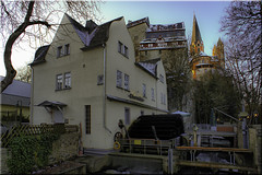 Obermuehle mit Dom und Schloss (juvhadamar) Tags: dom kathedrale kirchen altstadt cathredral limburganderlahn juvhadamar