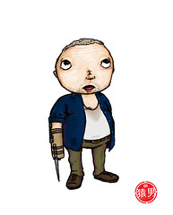 """Merle Dixon"" (The #FatKid Project) (MonkeyManWeb.com) Tags: art illustration kid louisiana drawing fat neworleans unitedstatesofamerica knife daily stump series duh amputee fatkid walkingdead michaelrooker merledixon"