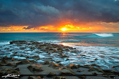 Ocean Reef Park Riviera Beach Florida Sunrise at Rocks